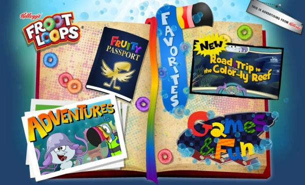 The Froot Loops game page for kids.