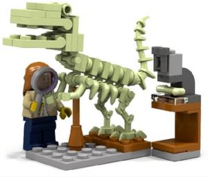 Lego female paleontologist